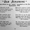Roy Aylings love poem Old Sunshine written [probably] to Norman Gibson