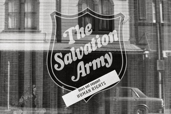 Image: Salvation Army protest