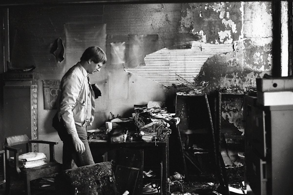 Image: Aftermath of an arson at LGRRC