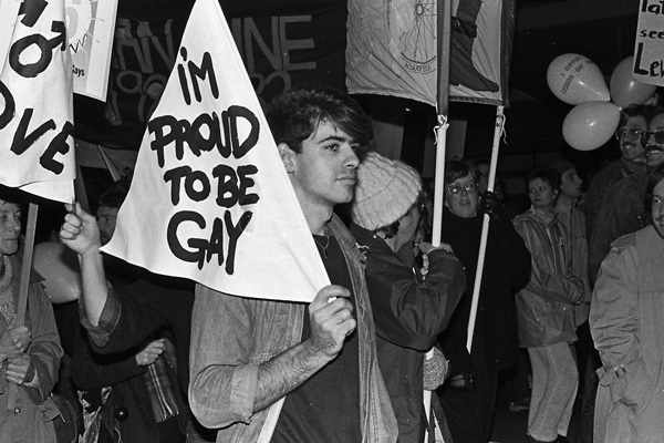 Image: Street march and rally in support of homosexual law reform